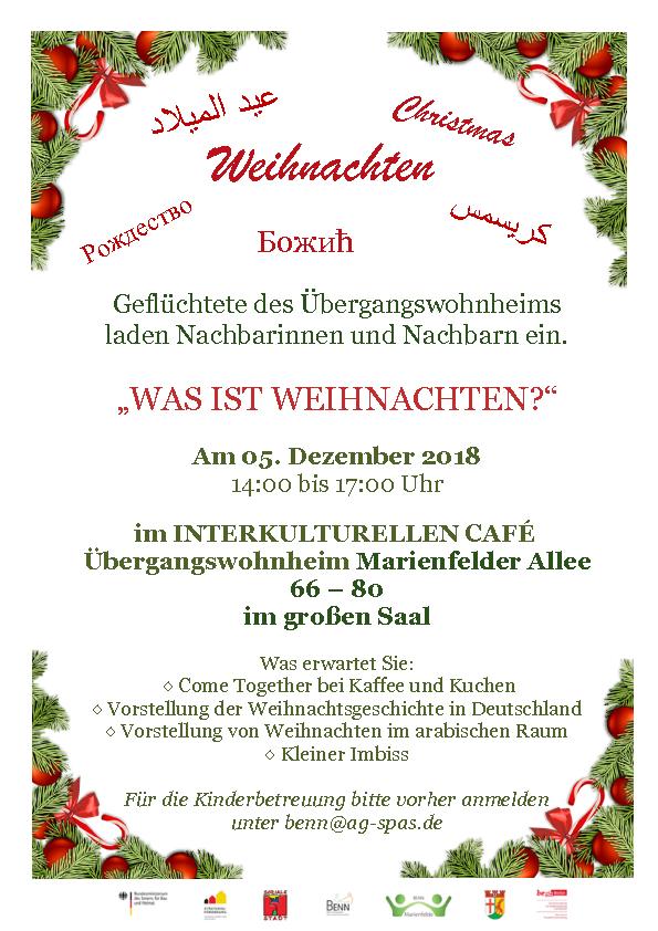 Weihnachten im Interkulturellen Café - BENN-Marienfelde